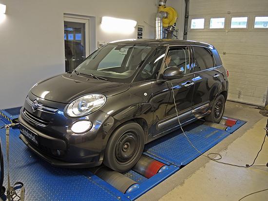 Fiat 500L 1,3 Mj 84LE chiptuning teljesítményméréssel MAHA