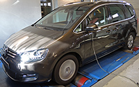 VW Sharan 2,0 TDI CR 136LE chiptuning