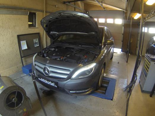Mercedes B180CDI teljesítménymérés (W246, 109LE)